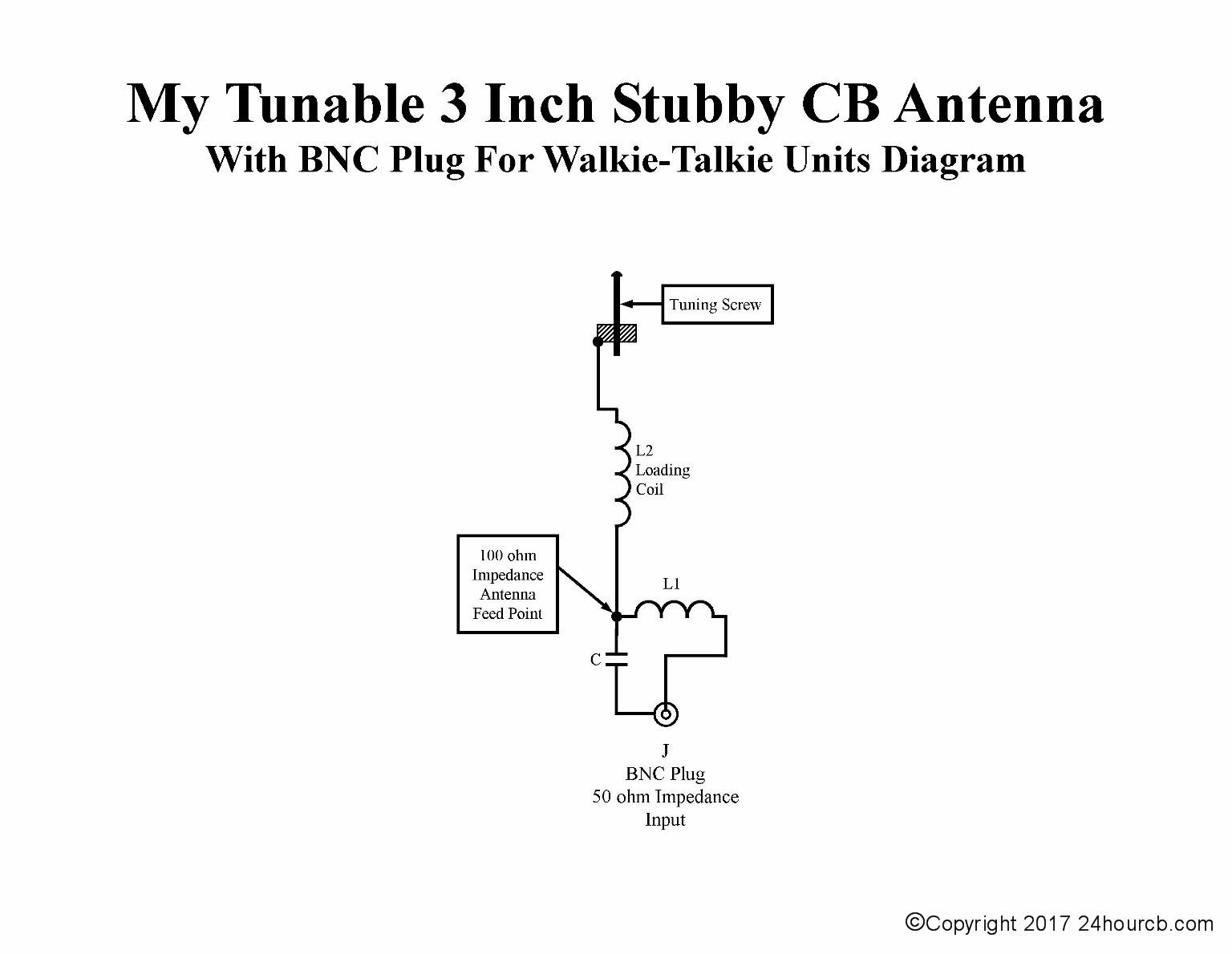Homemade 3 inch Short Stubby 27 MHz CB Antenna